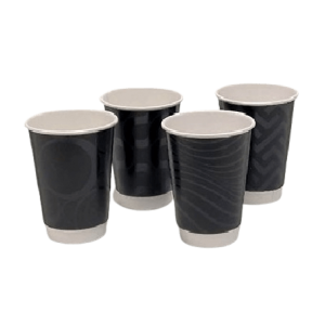 4way Paper Double Wall Cups 12OZ Premium Black 25PCS 0001223 0150210065