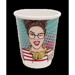 4way Paper Double Wall Cups 8OZ Pop Art 25PCS 0001164-1 0150210046