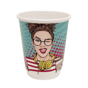 4way Paper Double Wall Cups 8OZ Pop Art 25PCS 0001164-1 0150210046