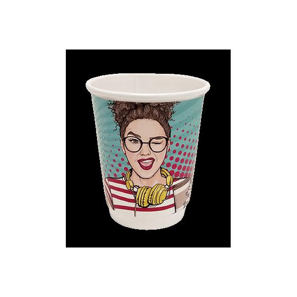 4way Χάρτινο Ποτήρι Διπλότειχο 8ΟΖ Pop Art 25ΤΕΜ 0001164-1 0150210046