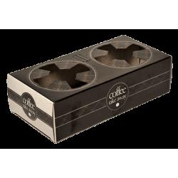 iprint Χάρτινη Θήκη Ποτηριών 2 Θέσεων Μαύρη Coffee Take Away CF0273 0151160010