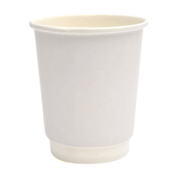 Packoflex Χάρτινο Ποτήρι Διπλότειχο 8ΟΖ Λευκό 25ΤΕΜ 0530049-3 0150210032