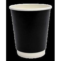 Packoflex Χάρτινο Ποτήρι Διπλότειχο 8ΟΖ Μαύρο 25ΤΕΜ 0001041-1 0150210043
