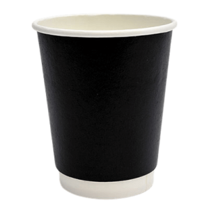 Packoflex Paper Double Wall Cups 8OZ Black 25PCS 0001041-1 0150210043