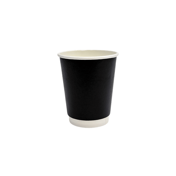 Packoflex Paper Double Wall Cups 8OZ Black 25PCS 0001041-1 0150210043
