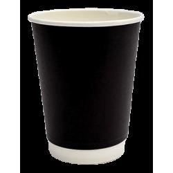 Packoflex Χάρτινο Ποτήρι Διπλότειχο 14ΟΖ Μαύρο 25ΤΕΜ 0001040 0150210042