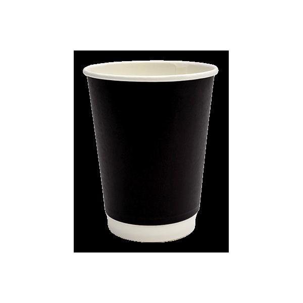Packoflex Paper Double Wall Cups 14OZ Black 25PCS 0001040 0150210042