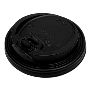 MAC PAC Plastic Cip Lids Reclosable For 14OZ-16OZ Cups Black 100PCS 000380 0150210034