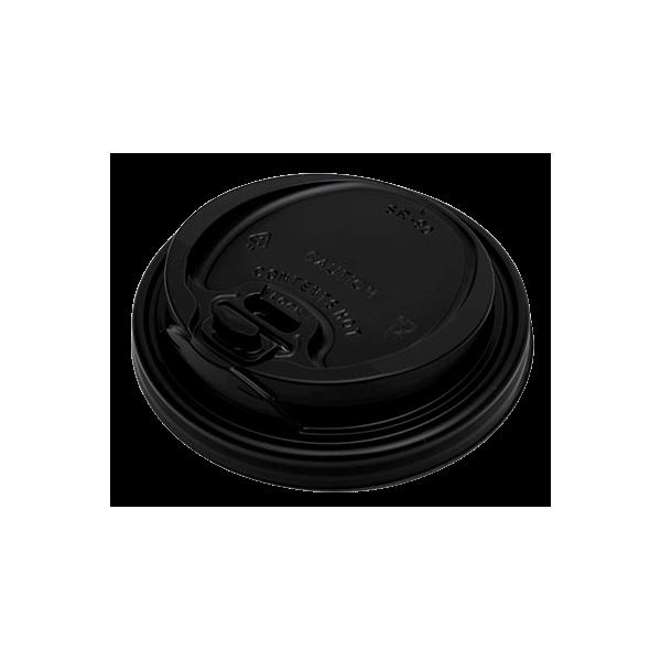 MAC PAC Plastic Cip Lids Reclosable For 14OZ-16OZ Cups Black 100PCS 000380 0150210034