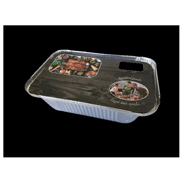 Θαλασσινός Paper Lid For Container R45L-S14 Colored 100PCS ΕΜ.6115 5202054461157
