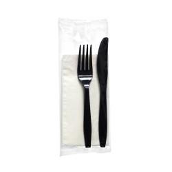 OEM Cutlery Set Lux Black Colored 100Pcs 000474 5200150820021