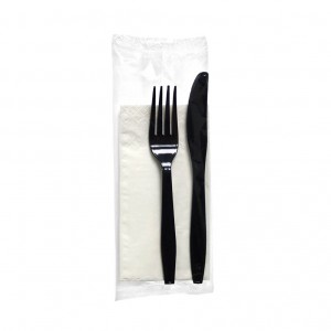 OEM Cutlery Set Lux Black Colored 100Pcs 000474 5200150820021