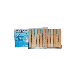 ΚΥΚΛΩΨ Hardwood Clothespegs 24Pcs 00330201Α 5202707992991