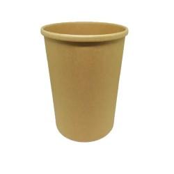 INTERTAN Paper Bowl Kraft Soup Round 975/32Oz 25Pcs 0001198-4 5206970016552