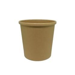 INTERTAN Paper Bowl Kraft Soup Round 435/15Oz 50Pcs 0001198-1 5206970030404