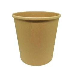 INTERTAN Paper Bowl Kraft Soup Round 818Ml/26Oz 50Pcs 0001198-3 5206970030428