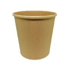 INTERTAN Paper Bowl Kraft Soup Round 580Ml/20Oz 50Pcs 0001198-2 5206970030411