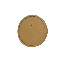 INTERTAN Kraft Paper Lid For Soup Bowl 25Pcs 0001198-0 5206970016637