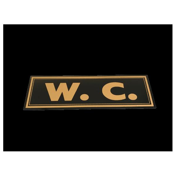 OEM WC Sign Black 20X6 08-00-019 0251460003