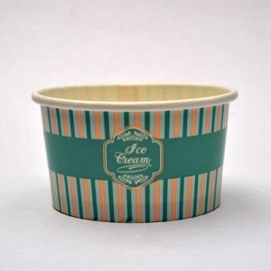 INTERTAN Paper Round Ice Cream Bowl 8Oz 50PCS 000792 5206970009646