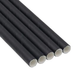 bio paper Paper Straight Straws Jumbo Wrapped Black 100Pcs 0001307 5206492013107