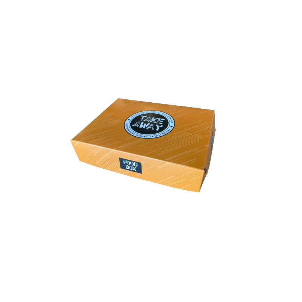 Packoflex Paper Box Food Box No5 Portion Orange 0000162-1 0150780008