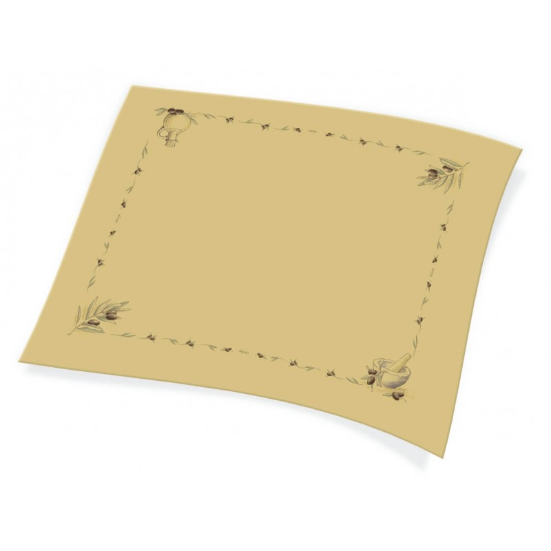 Endless Table Cover 1X1,30 Brown Colored With Olive Print 110PCS 1100811303 5202995008630