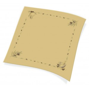 Endless Table Cover 1X1 Brown Colored With Olive Print 150PCS 1100811103 5202995008593