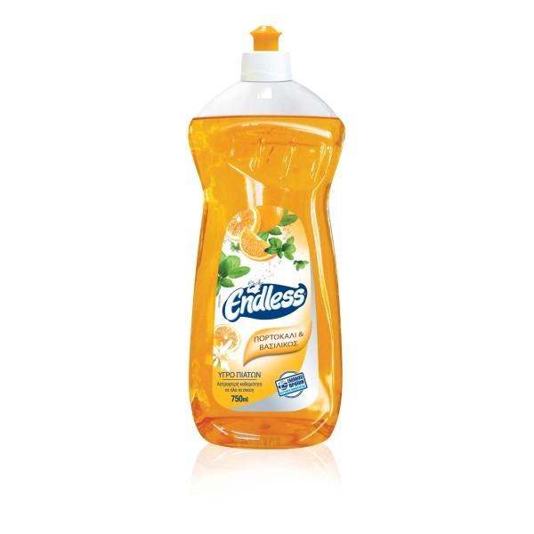 Endless Manual Dishwashing Liquid Orange And Basil 750ML 1200750223 5202995106650