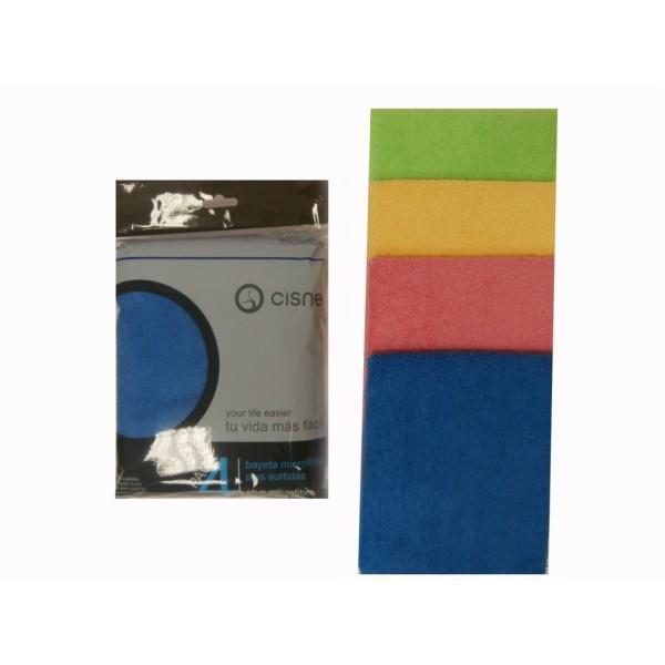 CISNE Microfibra Cleaning Cloth 4PCS 560504 8410347605042