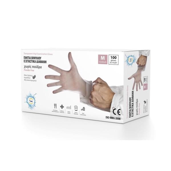 Mopatex Γάντια Μιας Χρήσης Vinyl Διάφανο 100 Τεμάχια Medium 0208-M 5213000740370