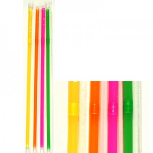 KORPLAST Jumbo Bended Straws Multicolor 1/1 1000PCS 000545-1 5203991410482