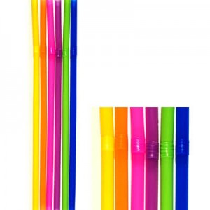 KORPLAST Jumbo Bended Straws Multicolor 1000PCS 000095-1 5203991410413