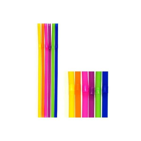 KORPLAST Jumbo Bended Straws Multicolor 1000PCS 000095-1 5203991410413