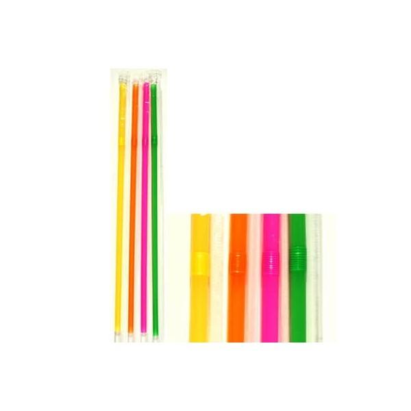 KORPLAST Bended Straws Multicolor 1/1 1000PCS 000755 6425092000426