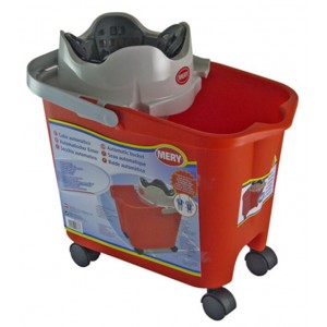 Soufleros Mop Bucket Mery With Wheels 14LT 11206 8411287003226