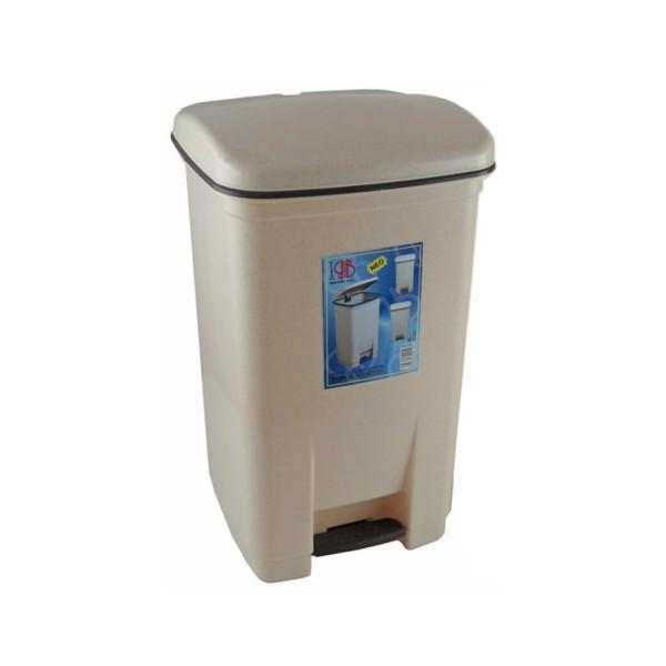 OEM Viomes Plastic Rubbish Bin With Pedal 20LT Biege 14112 ΜΠΕΖ 5203493544463