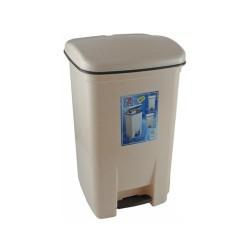 OEM Viomes Plastic Rubbish Bin With Pedal 40LT Biege 14111 ΜΠΕΖ 5203493541462