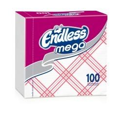 Endless Χαρτοπετσέτα Mega 100 Tεμάχια Καρώ Κόκκινη 1100330042 5202995008831