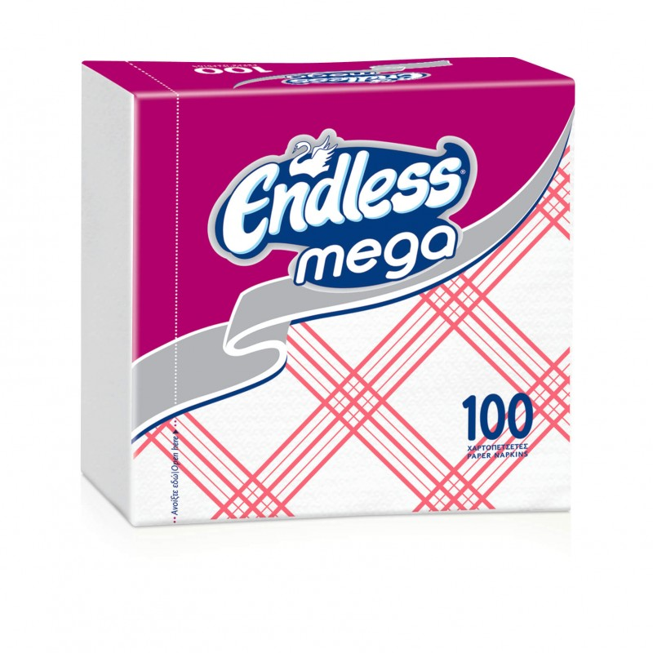 Endless Napkin Mega 100PCS Checkered Red 1100330042 5202995008831