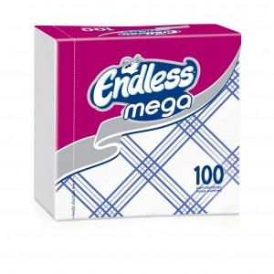 Endless Χαρτοπετσέτα Mega 100 Tεμάχια Καρώ Μπλε 1100330043 5202995008848