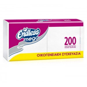 Endless Napkin Mega 200PCS 33Χ33 1100330200 5202995009265
