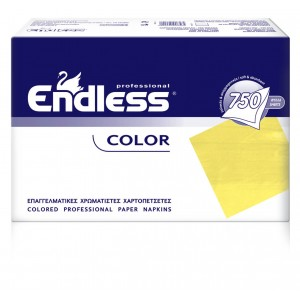 Endless Restaurant Napkins Light Yellow 750PCS 24X24 1100240012 5202995008503