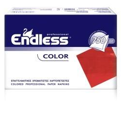 Endless Χαρτοπετσέτα Εστιατορίου Κόκκινη 750 Τεμάχια 24X24 1100240017 5202995008558