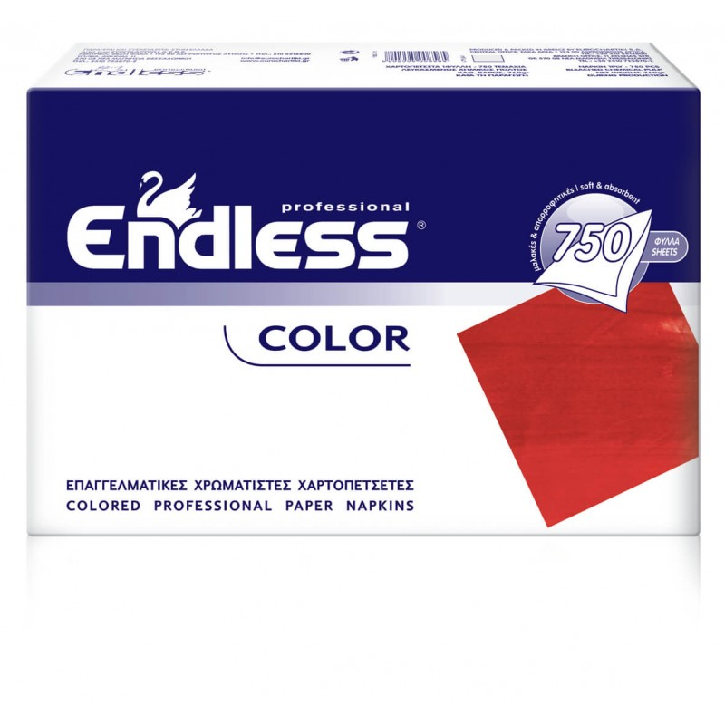 Endless Restaurant Napkins Red 750PCS 24X24 1100240017 5202995008558