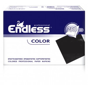 Endless Restaurant Napkins Black 750PCS 24X24 1100240018 5202995008565