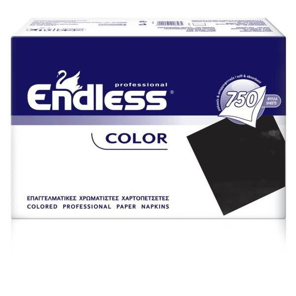 Endless Restaurant Napkins Black 750PCS 24X24 1100240018 5202995008565