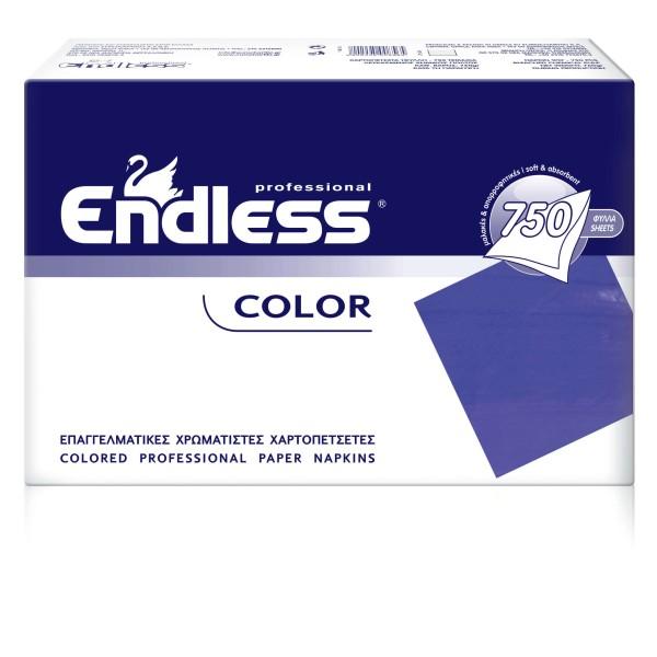 Endless Χαρτοπετσέτα Εστιατορίου Μπλε 750 Τεμάχια 24X24 1100240016 5202995008541