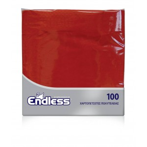 Endless Napkin Luxury Red 100PCS 38X38 1100380009 5202995003959