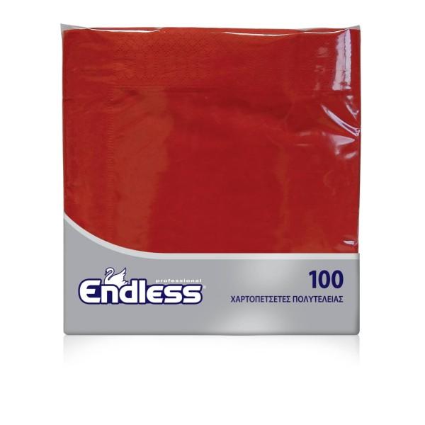 Endless Χαρτοπετσέτα Πολυτελείας Κόκκινη 100 Τεμάχια 38Χ38 1100380009 5202995003959